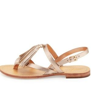 Kate Spade leather tassel sandals